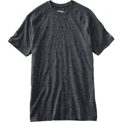 Saucony DASH SEAMLESS SHORT SLEEVE 81157-DGH Dark Grey Heather M (635841153686)