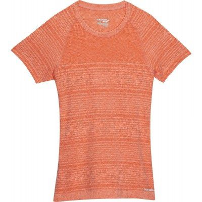 Saucony DASH SEAMLESS SHORT SLEEVE 81576-PSRH Peach Sorbet Heather M (635841163807)
