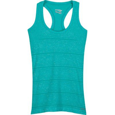 Saucony DASH SEAMLESS TANK 81566-HSKH Hawaiian Sky Heather XS (635841163180)