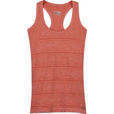 Saucony DASH SEAMLESS TANK 81566-PSRH Peach Sorbet Heather S (635841163265)