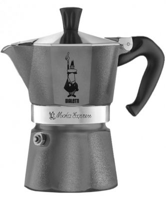 Кофеварка Bialetti Moka Express Emotion 0.18 л (серый) (0005312)