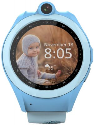 Фитнес-браслеты UWatch Q610 Kid wifi gps smart watch Blue