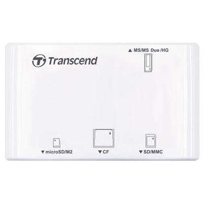 Картридер TRANSCEND CardreaderTS-RDP8W All-in-1 White