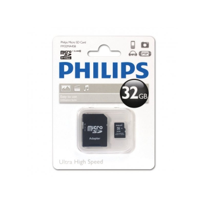 Philips microSDXC 64 GB Class 10 + adapter