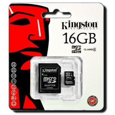 Карта памяти Kingston MicroSD 16GB Class 4