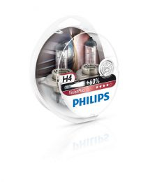 Купить Автолампа Philips H4 12342VPS2 Vision Plus Blister (2шт.)