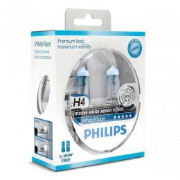 Купить Автолампа Philips H4 12342WHVSM White Vision Blister (2шт.)