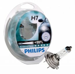 Купить Автолампа Philips H7 12972XVS2New X-treme Vision +130% Blister (2шт.)