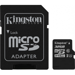 Купить Карта памяти Kingston 32 GB microSDHC Class 10 UHS-I + SD Adapter SDC10G2/32GB
