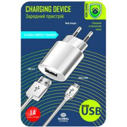 GLOBAL CHARGE MSH-TR-071 1USB-1A MICRO USB