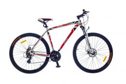 "Купить Велосипед 29"" Optimabikes BIGFOOT AM рама 19"" Vbr Alu White-red SKD 2015"