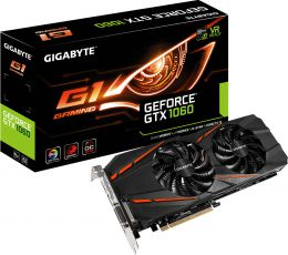 Купить Видеокарта Gigabyte geforce gtx 1060 g1 gaming 6g (gv-n1060g1 gaming-6gd)