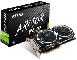 Купить Видеокарта MSI GeForce GTX 1060 ARMOR 3G OCV1