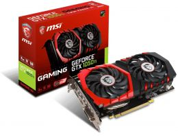 Купить Видеокарта MSI GeForce GTX 1050 Ti GAMING 4GB GDDR5 (GTX 1050 TI GAMING 4G)