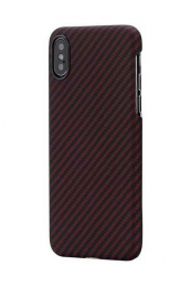 Купить Чехол для мобильного Pitaka Aramid Case Black/Red for iPhone XS Max (KI9003XM)