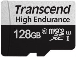 Купить Карта памяти Transcend 128 GB microSDXC UHS-I 350V High Endurance + SD Adapter (TS128GUSD350V)