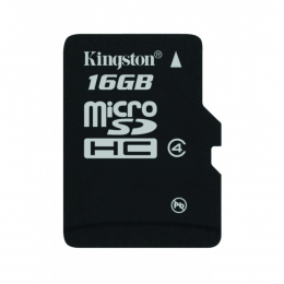 Купить Карта памяти Kingston MicroSD 16GB Class 4 + SD-adapter