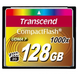 Купить Карта памяти Transcend 128 GB 1000X CompactFlash Card TS128GCF1000